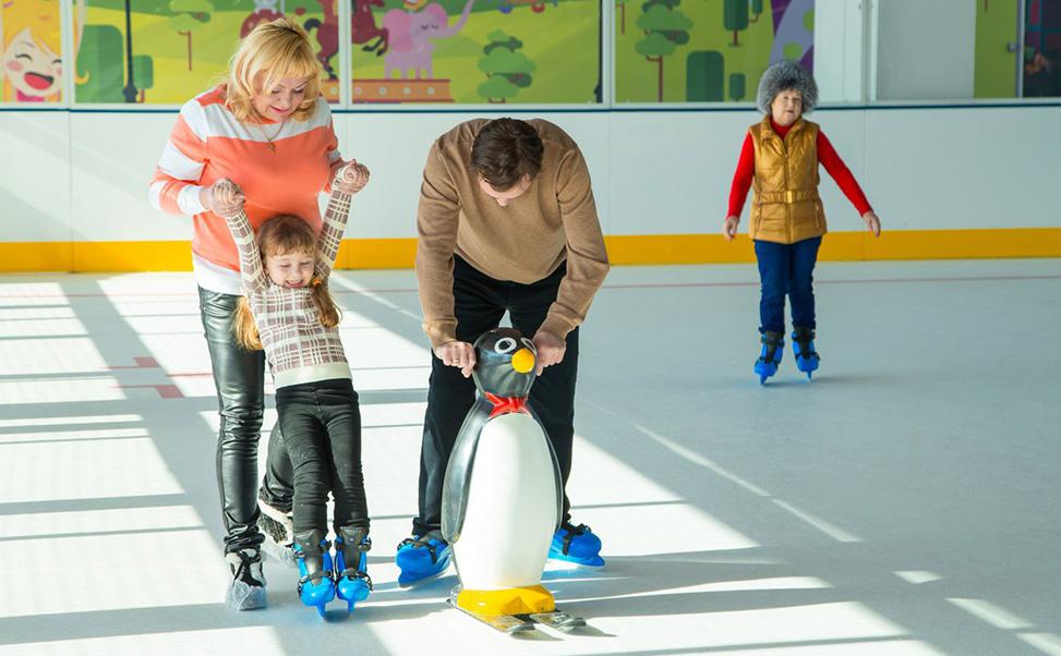 Afmetingen voor een schaatsbaan