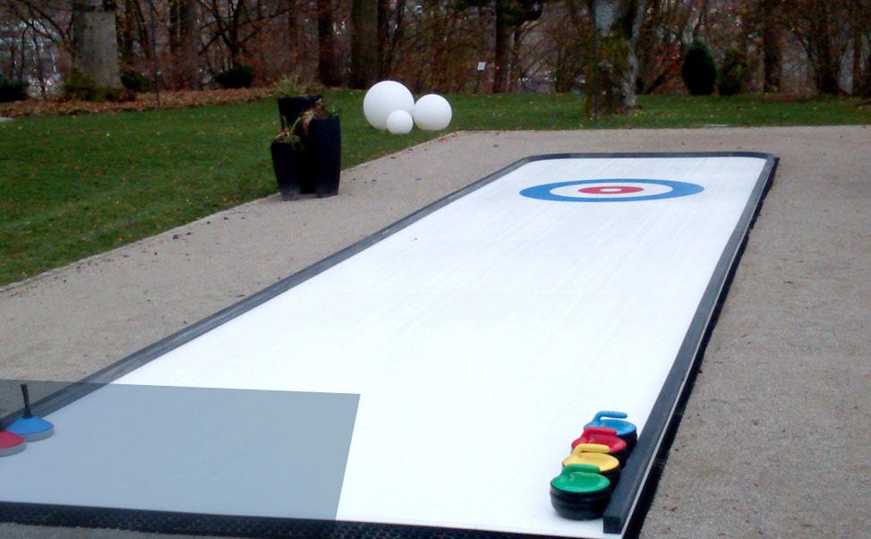 Curling op synthetisch ijs van Xtraice