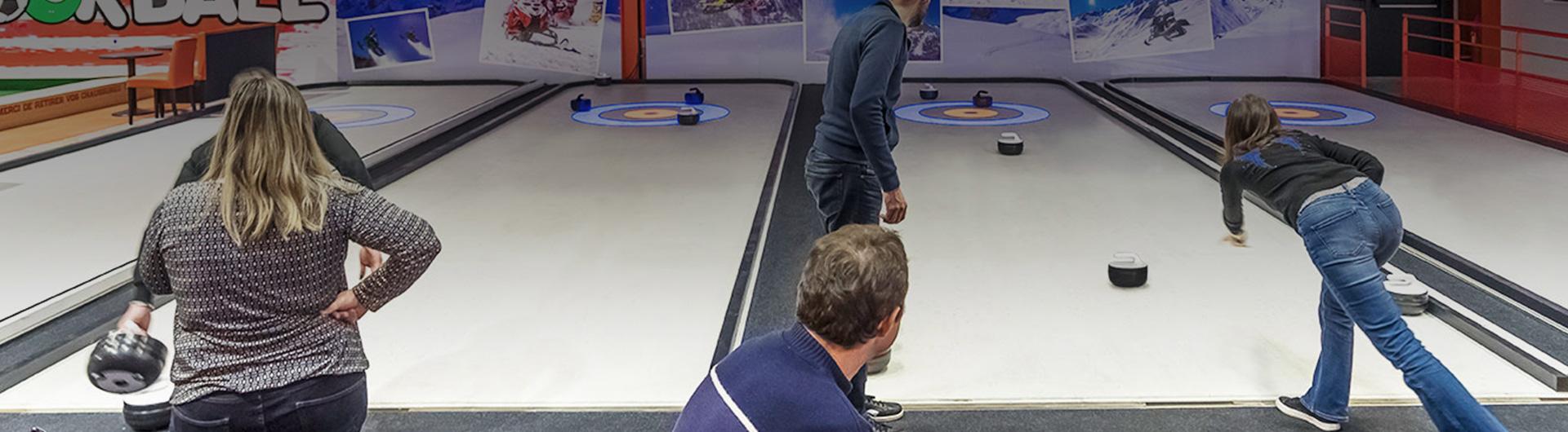 Curlingbaan op synthetisch ijs van Xtraice