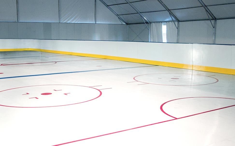 Pista di ghiaccio per eventi di hockey