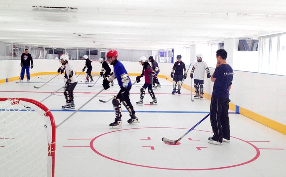 Trainingscomplex voor hockey op synthetisch ijs Xtraice