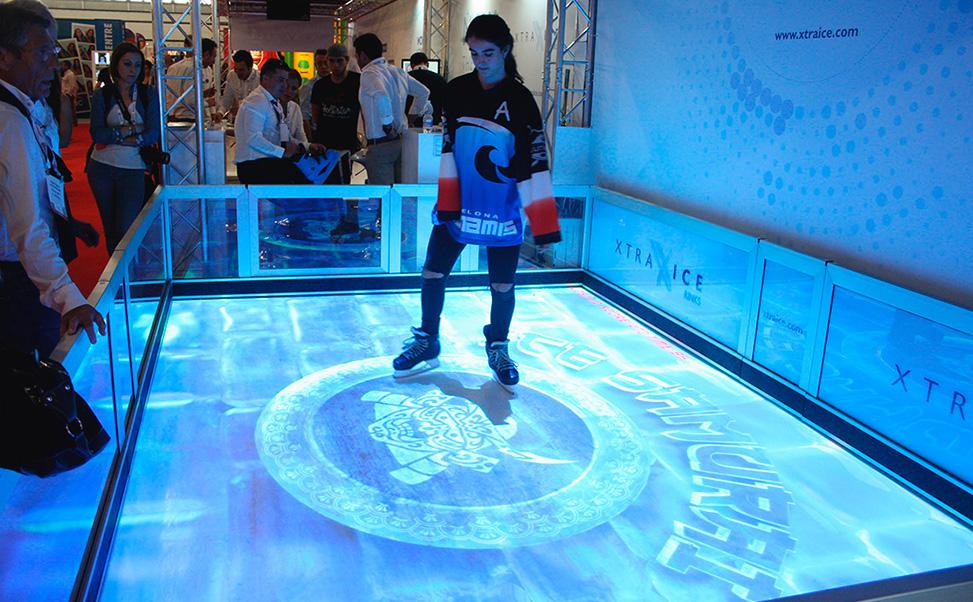 Interaktive Xtraice Eislaufbahn