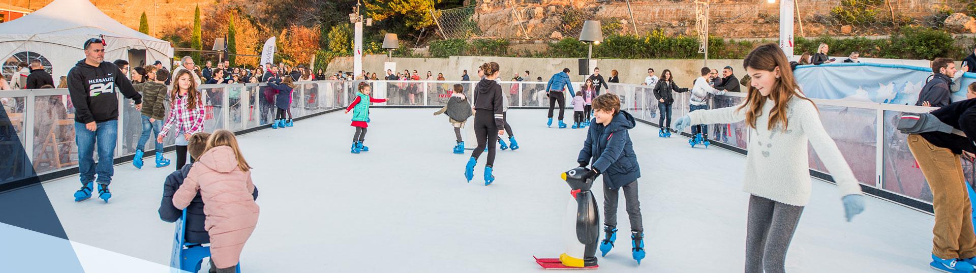 Pista de patinaje sobre hielo sintético para ocio