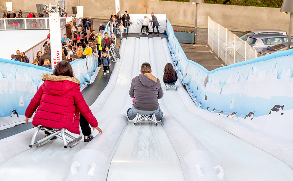 Xtraice ice slide on synthetic surface