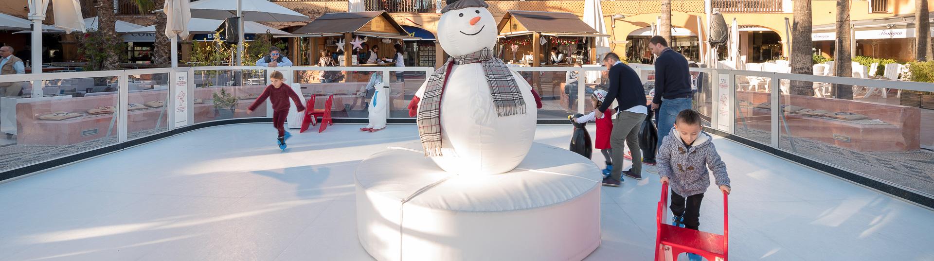 Pista de gelo no Natal | Você quer alugar sua pista de patinagem?