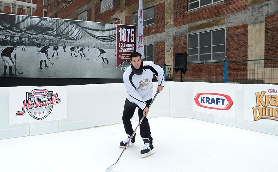 Pista de hielo Xtraice para eventos de hockey