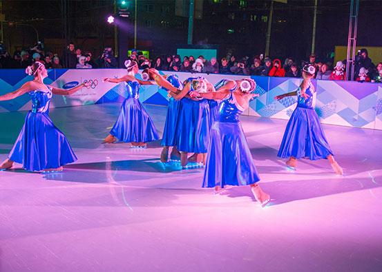 Renta de pista de patinaje sobre hielo sintético