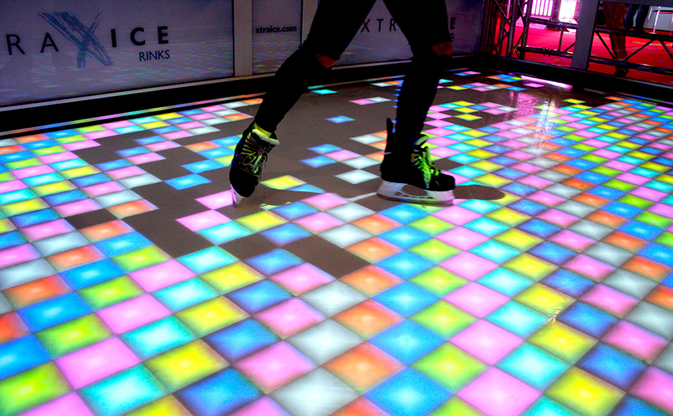 pista de patinagem interativa Xtraice