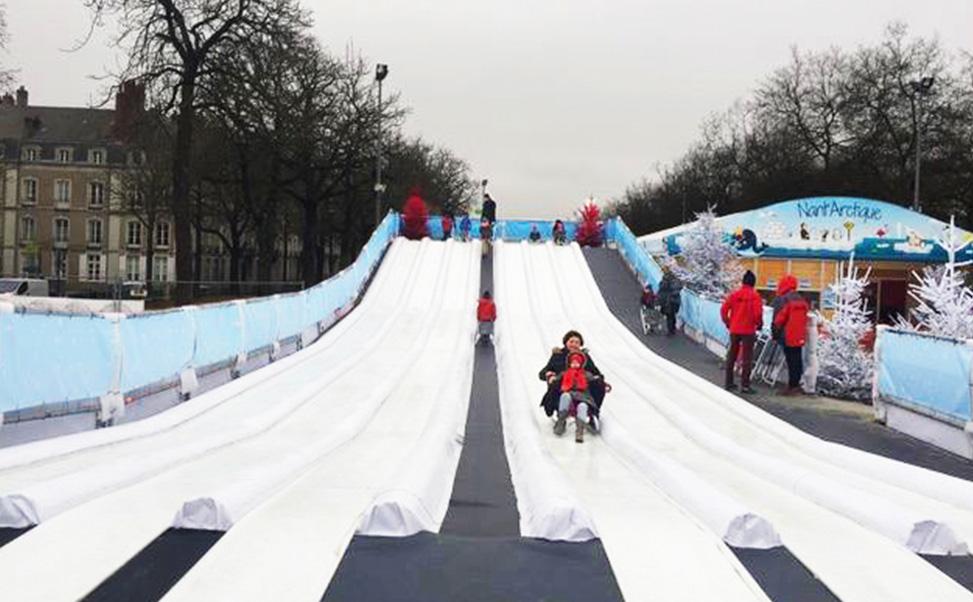 6レーンのエクストラアイスの滑り台