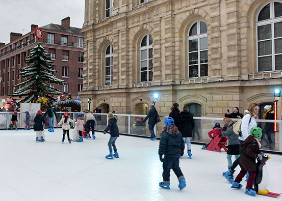 Synthetic ice rink rental cost