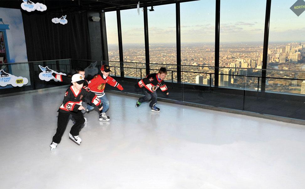 世界で一番高い所にあるエクストラアイスのスケートリンク