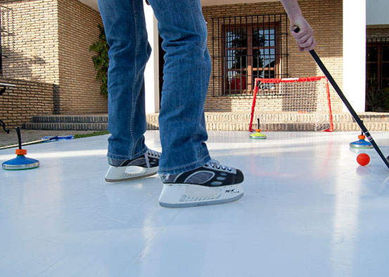 How to make an  Xtraice synthetic ice rink  at home