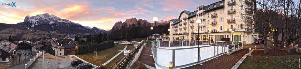 piste-glace-synthetique-hotel-cristallo-italie