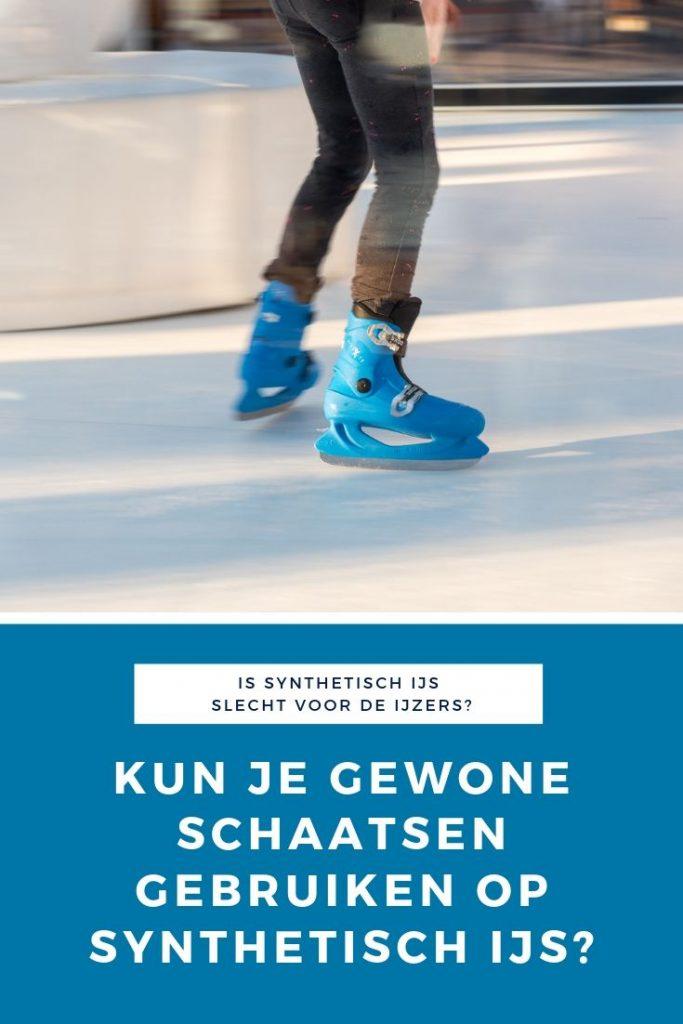 Kun je gewone schaatsen gebruiken op synthetisch ijs?