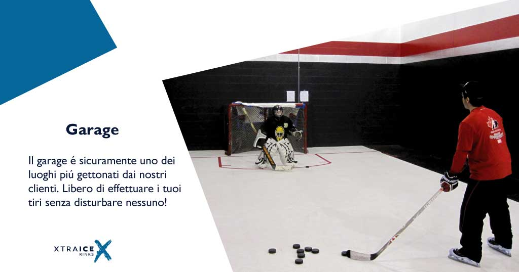 Pista di pattinaggio ghiaccio sintetico Xtraice in garage